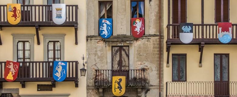 Arezzo stad middeleeuwen wapens
