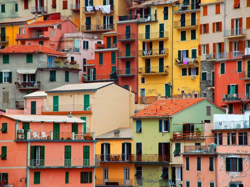 Bloemenrivièra huisjes kleuren