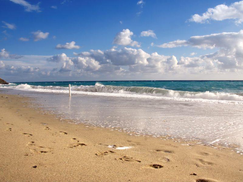 Bloemenrivièra strand zee