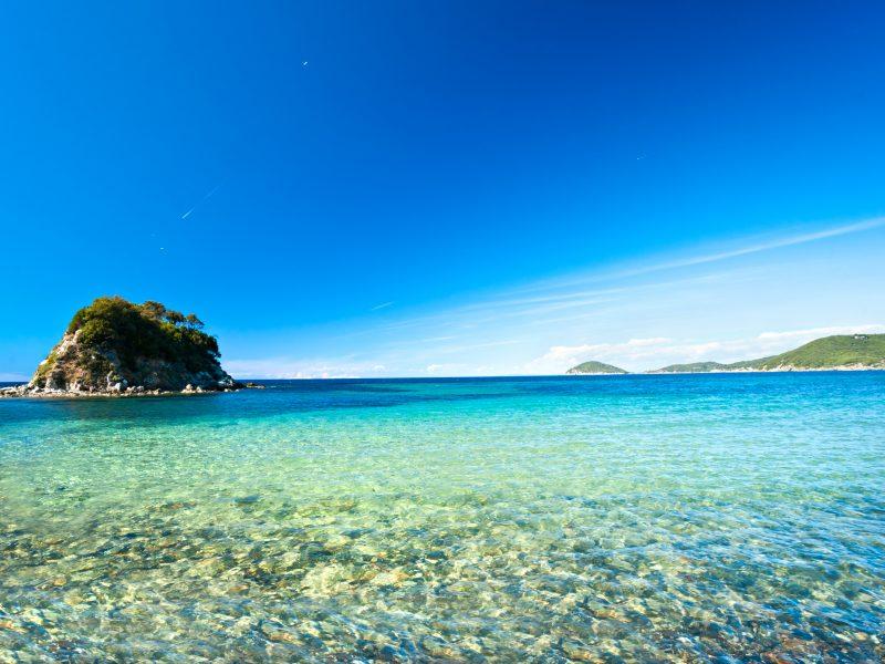 Elba zee eilandje
