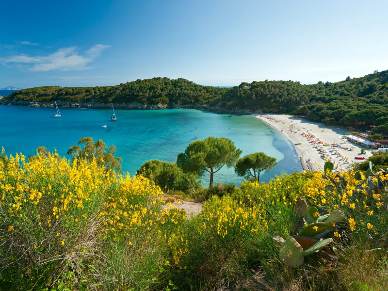 Elba kust strand zee