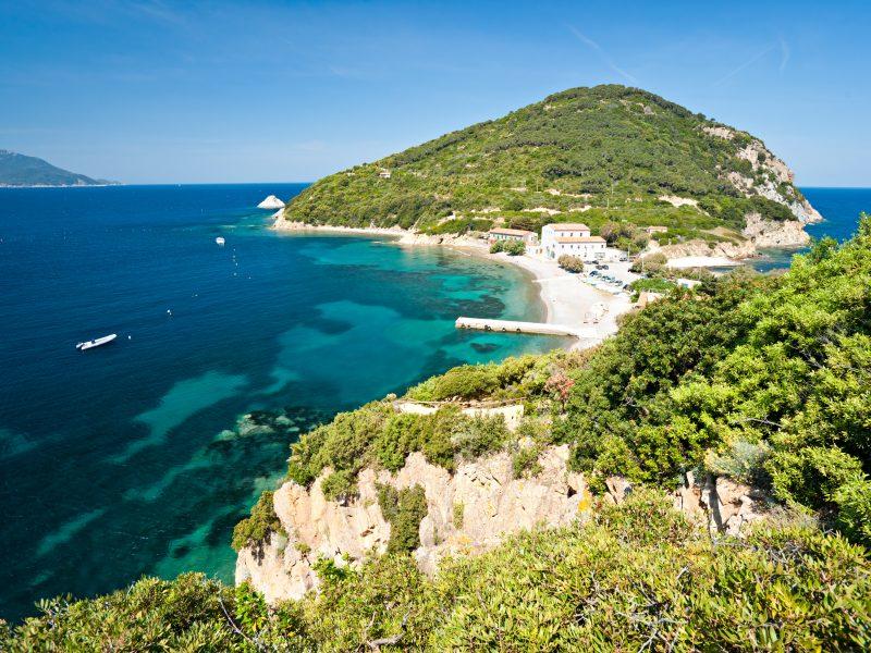 Elba eiland strand