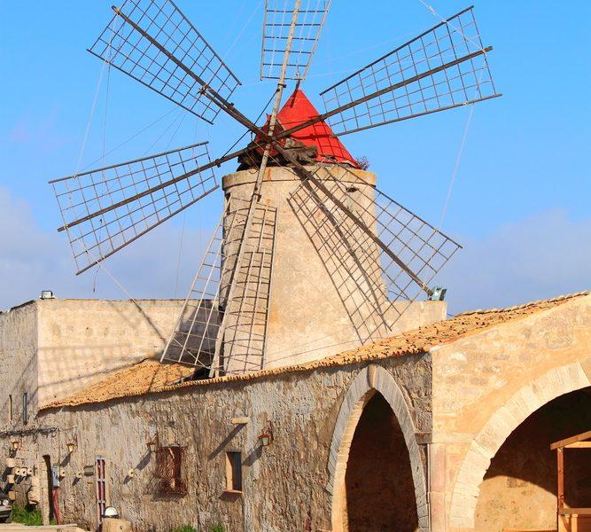 Sicilië Marsala zout molen
