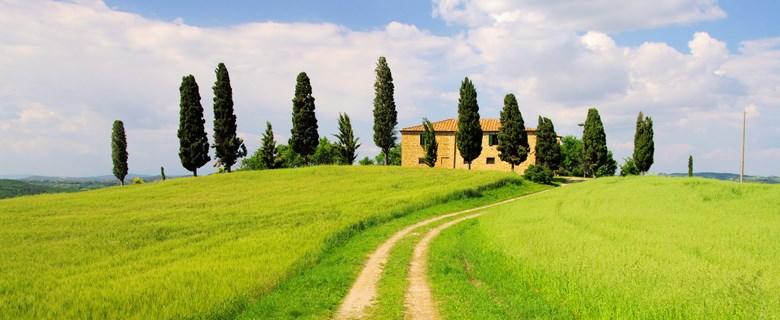 Toscane landschap agriturismo
