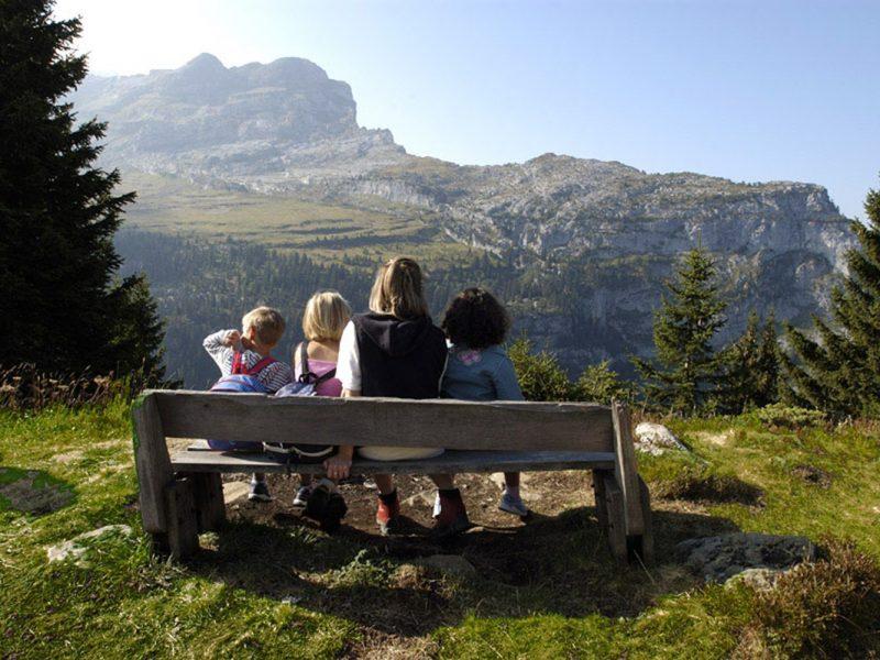 Hameau de Flaine vakantiepark uitzicht bergen