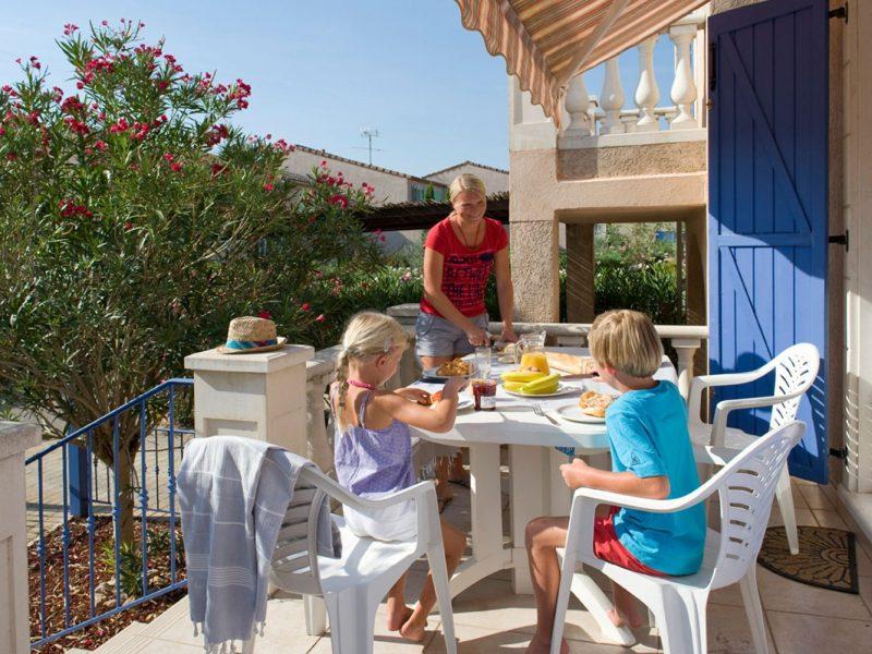 Le Clos des Oliviers vakantiewoning balkon