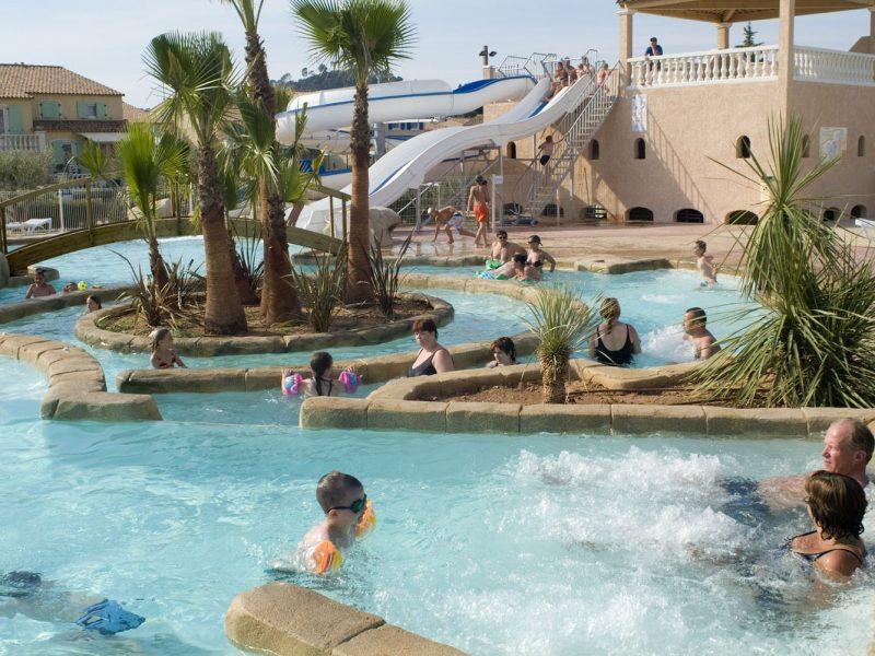 Le Clos des Oliviers zwembad glijbaan