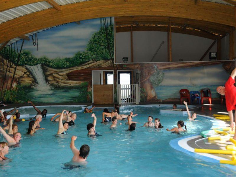 Camping l'Atlantique zwembad animatie aquagym