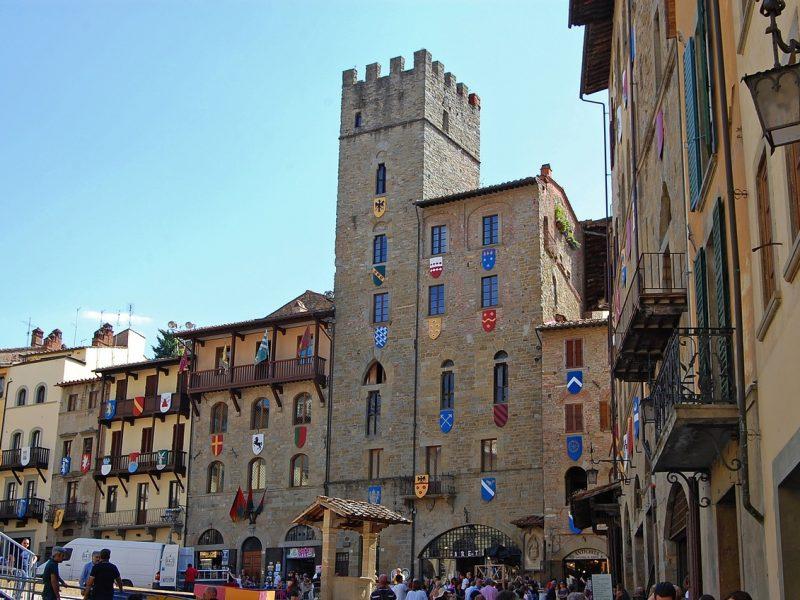 Arezzo stad middeleeuwen