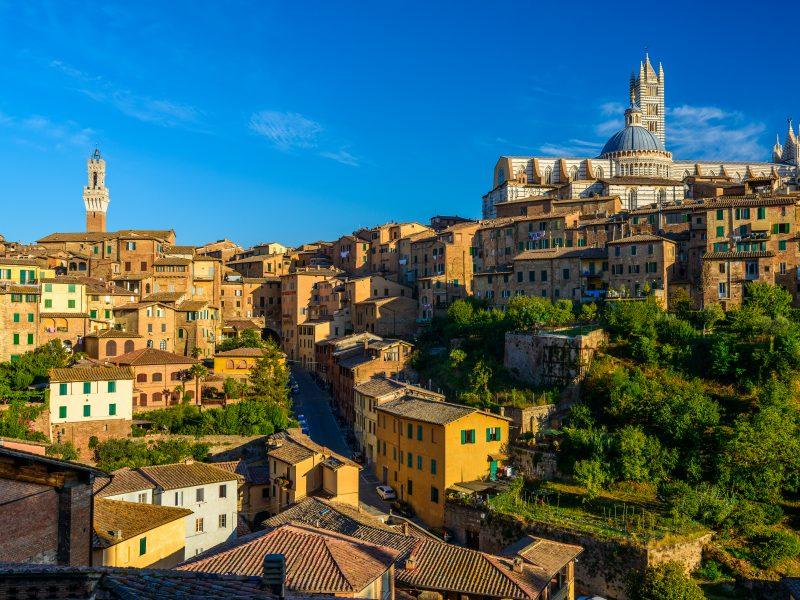Siena stad in Toscane