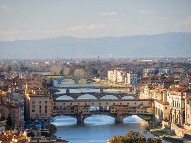 Florence stad bruggen