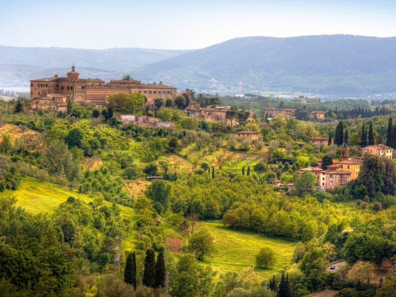 Toscane landschap kasteel