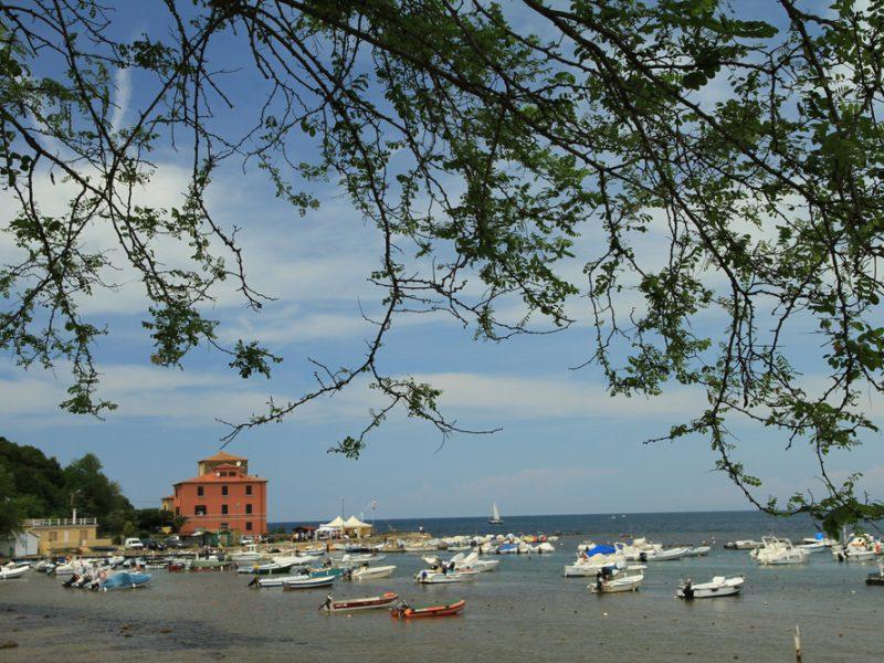 Toscaanse kust vissersbootjes
