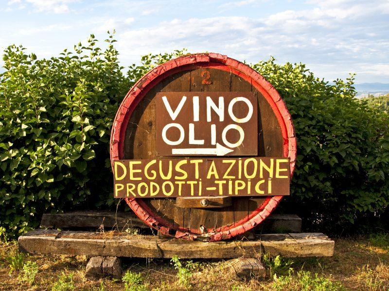 Wijn en olijfolie verwijzing