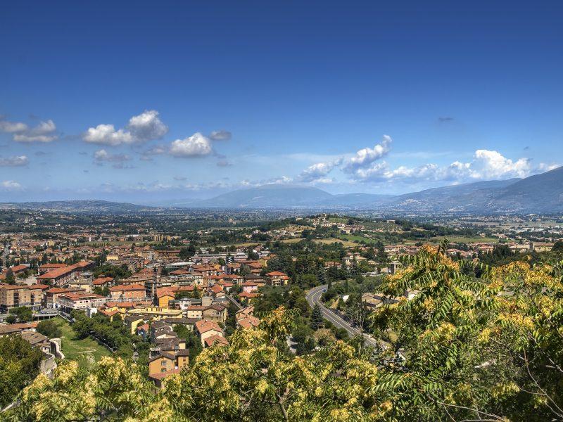 Umbrië overview steden natuur