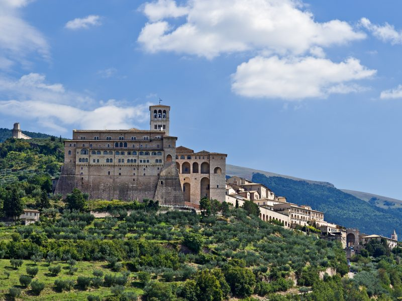 Umbrië kasteel natuur groen