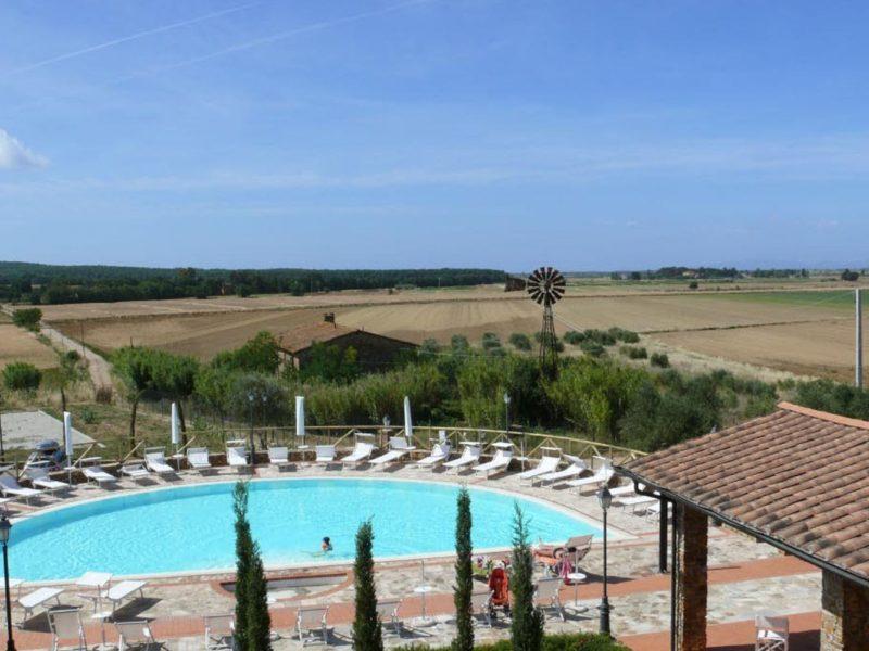 Antico Borgo Casalappi agriturismo zwembad bovenaf