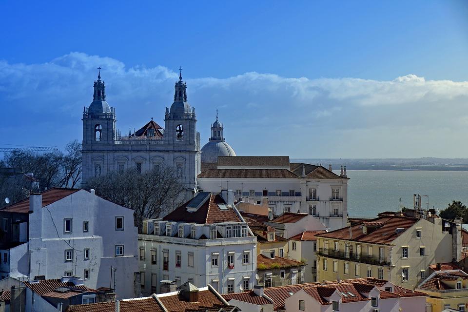 Skybar Lissabon uitzicht
