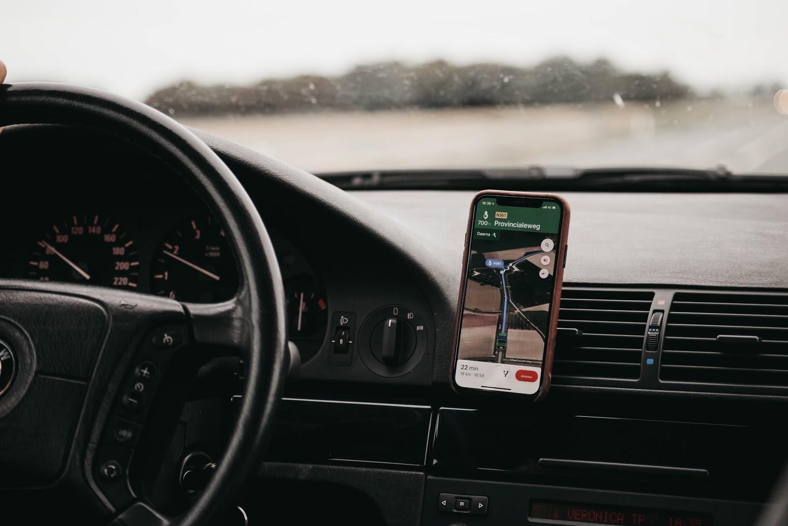 Op roadtrip vakantie - navigatie